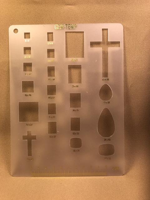 Templates, squares, rectangles, crosses