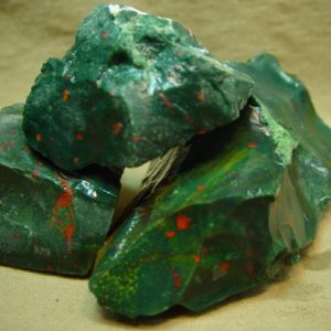 Rough: Bloodstone, India, sm.