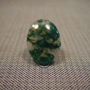 Green moss agate 30 x 22mm