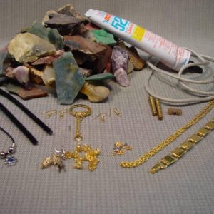 Tumbling grit, stone and jewelry kit
