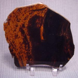 Rough: Obsidian, mahogany double flow