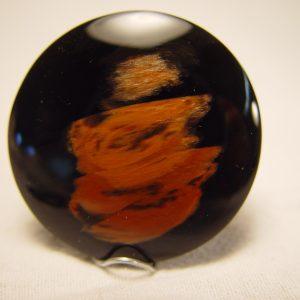 Obsidian, gold sheen 38mm, cab