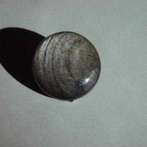 Obsidian, silver sheen, NV, 38mm