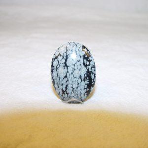 Obsidian, snowflake, 30 x 22mm