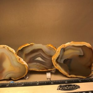 Yellow skin agate slabs